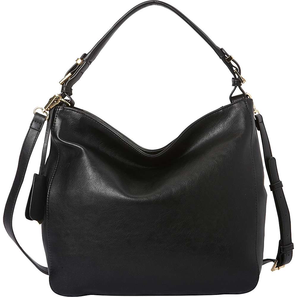 La Diva RFID Convertible Hobo Exclusive Black La Diva Manmade Handbags