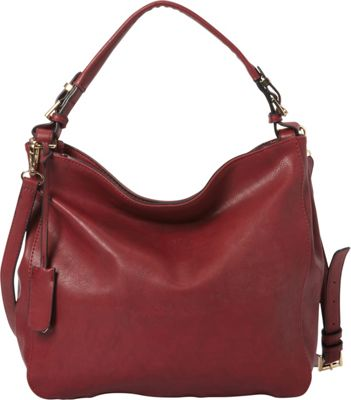 La Diva RFID Convertible Hobo - Exclusive Merlot - La Diva Manmade Handbags