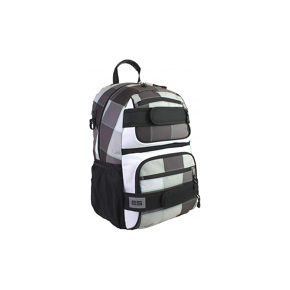 Eastsport Double Strap Skater Backpack Grey Plaid Eastsport Everyday Backpacks