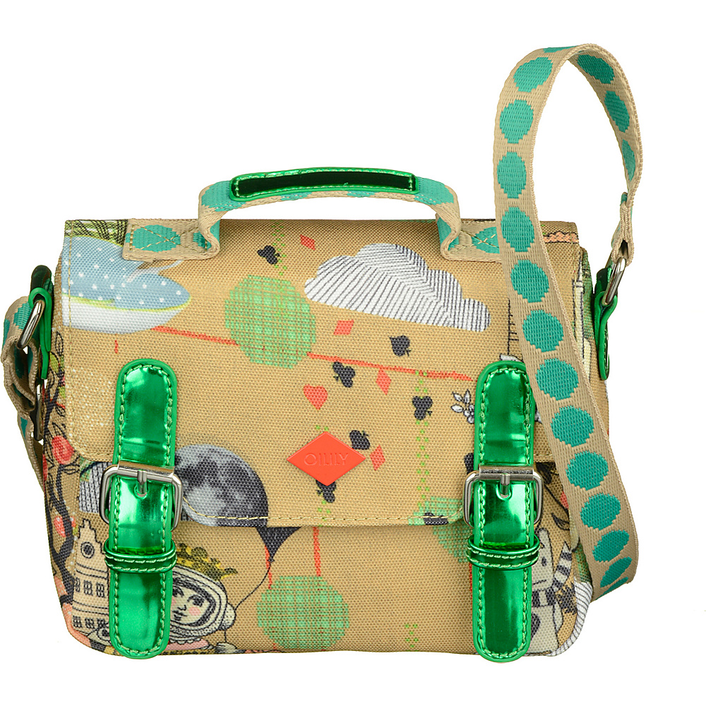Oilily Micro Satchel Sand Oilily Fabric Handbags