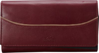 Mancini Leather Goods RFID Secure Gemma Large Clutch Wallet Burgundy - Mancini Leather Goods Women's Wallets