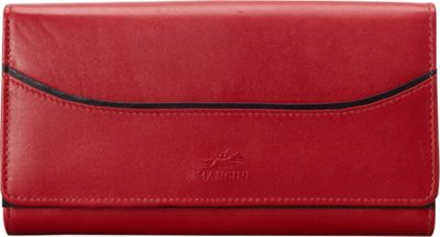 Mancini Leather Goods RFID Secure Gemma Large Clutch Wallet Red - Mancini Leather Goods Women's Wallets