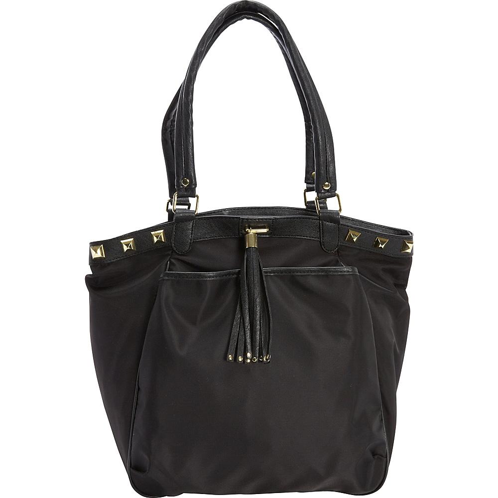83 30 More Details Olivia Joy Rosine Tote Black Fabric Handbags