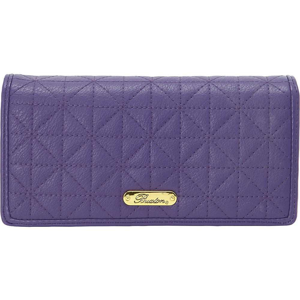 Buxton Double Diamond Quilt Expandable Clutch Mulberry - Buxton Womens Wallets - Women's SLG, Women's Wallets