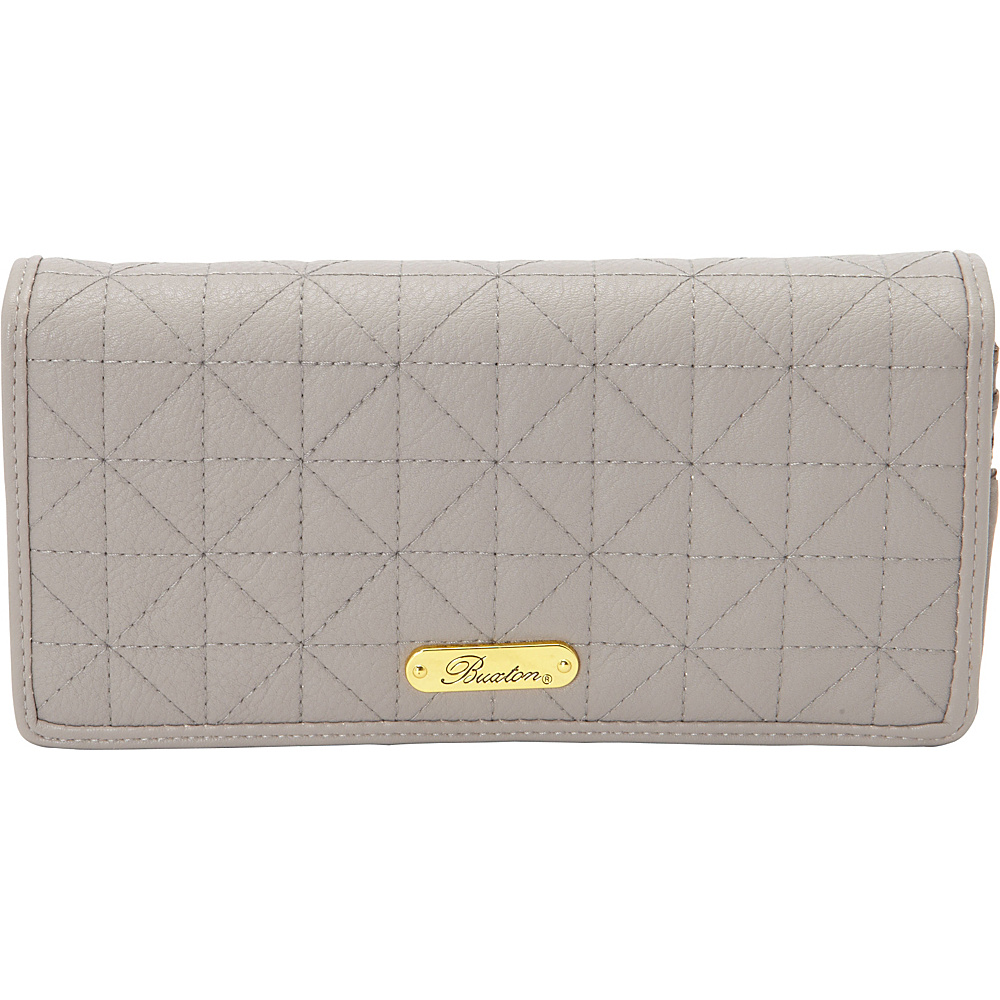Buxton Double Diamond Quilt Expandable Clutch Paloma - Buxton Womens Wallets - Women's SLG, Women's Wallets