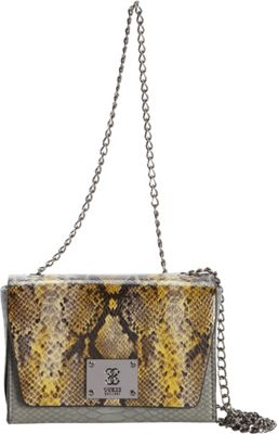 GUESS Angela Petite Crossbody Flap Military Multi - GUESS Manmade Handbags