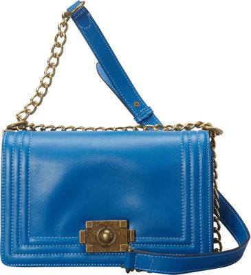 Donna Bella Designs Brooklyn Leather Crossbody Blue - Donna Bella Designs Leather Handbags