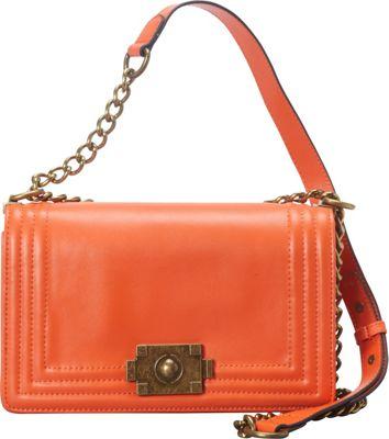 Donna Bella Designs Brooklyn Leather Crossbody Orange - Donna Bella Designs Leather Handbags
