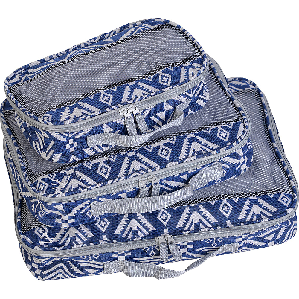 American Flyer Aztec 3pc Set Perfect Packing System Black Blue American Flyer Travel Organizers