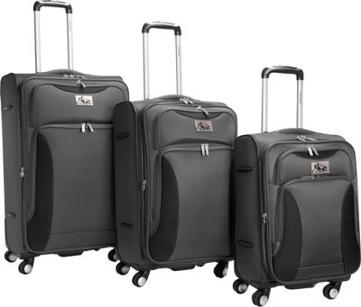 Chariot Bari 3Pc Luggage Set Grey/Black - Chariot Luggage Sets