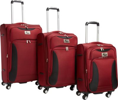 Chariot Bari 3Pc Luggage Set Red/Black - Chariot Luggage Sets