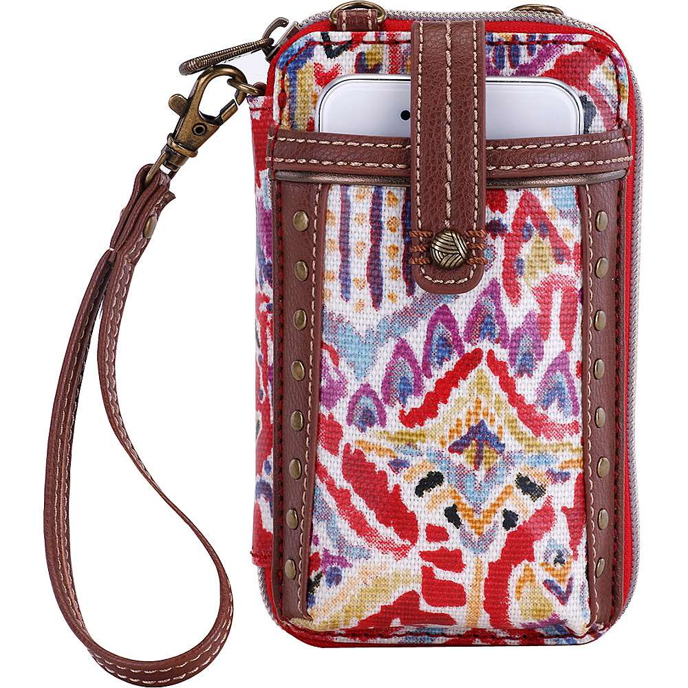 Sakroots Artist Circle Smartphone Wristlet Sweet Red Brave Beauti Sakroots Women s Wallets