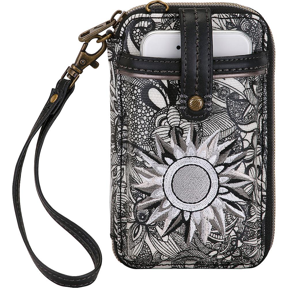 Sakroots Artist Circle Smartphone Wristlet Black & White Spirit Desert - Sakroots Womens Wallets - Women's SLG, Women's Wallets