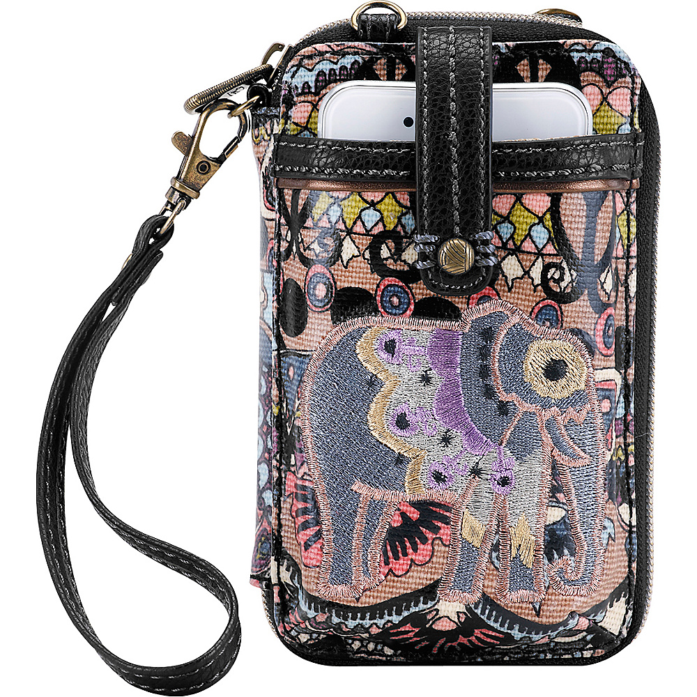 Sakroots Artist Circle Smartphone Wristlet Taupe One World - Sakroots Womens Wallets - Women's SLG, Women's Wallets