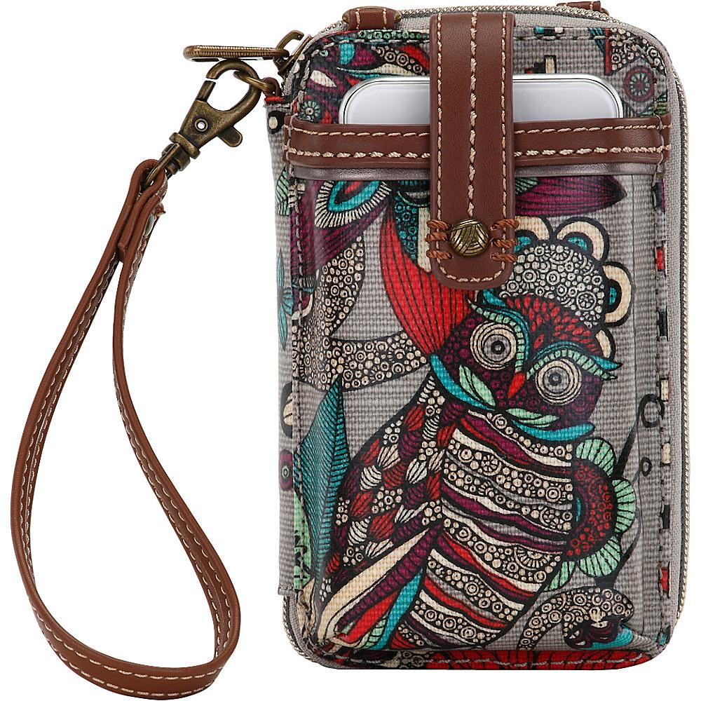 Sakroots Artist Circle Smartphone Wristlet Charcoal Spirit Desert - Sakroots Womens Wallets - Women's SLG, Women's Wallets