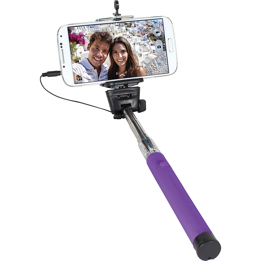 Digital Treasures Selfie ClickStick Extendable Monopod Purple Digital Treasures Camera Accessories