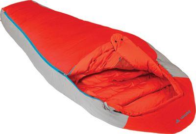 Vaude Cheyenne 350 Down Sleeping Bag Red- Left - Vaude Outdoor Accessories