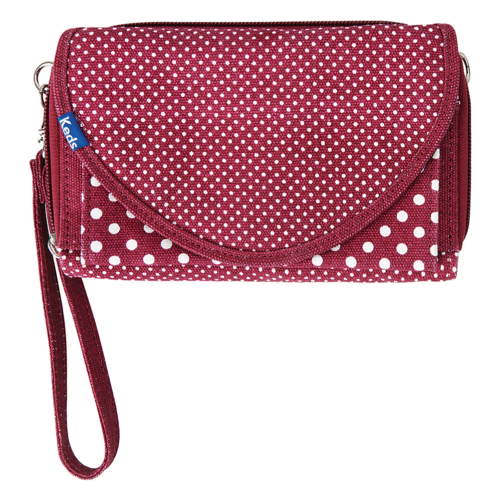 Keds Convertible Wallet Crossbody Beet Red Keds Women s Wallets