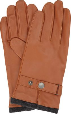 Ben Sherman Leather Glove with Heathered Knit Lining L - Desert Sand - Extra Large - Ben Sherman Hats/Gloves/Scarves