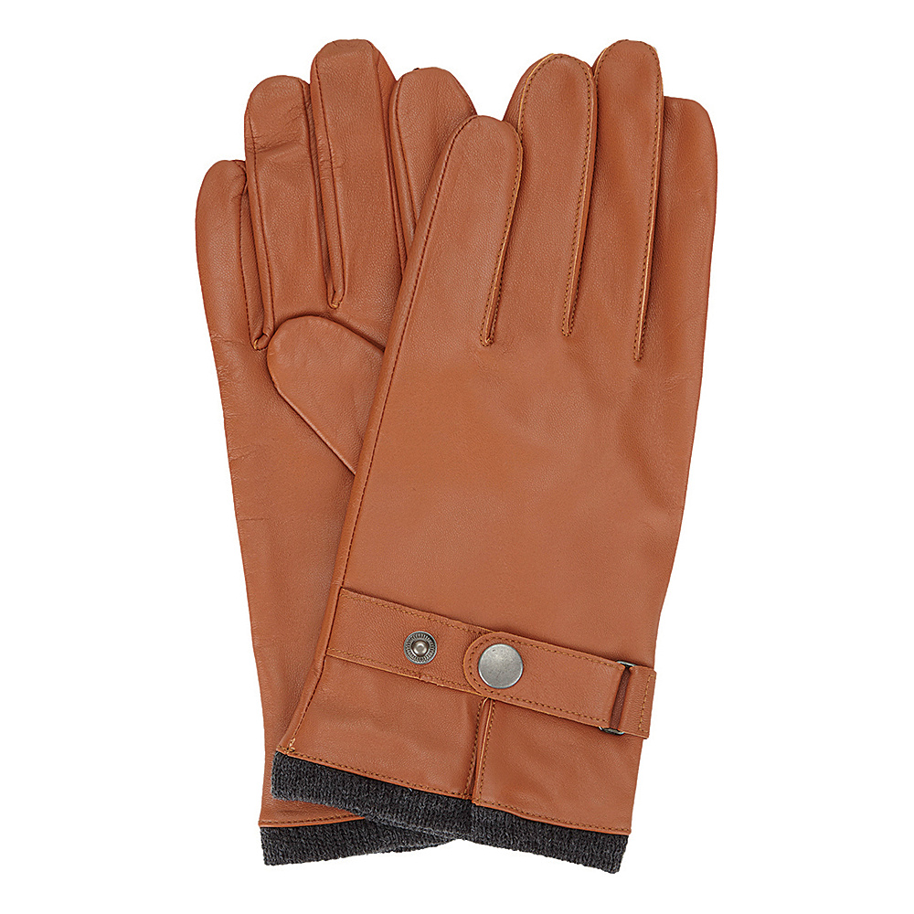 Ben Sherman Leather Glove with Heathered Knit Lining Desert Sand - Small - Ben Sherman Hats/Gloves/Scarves