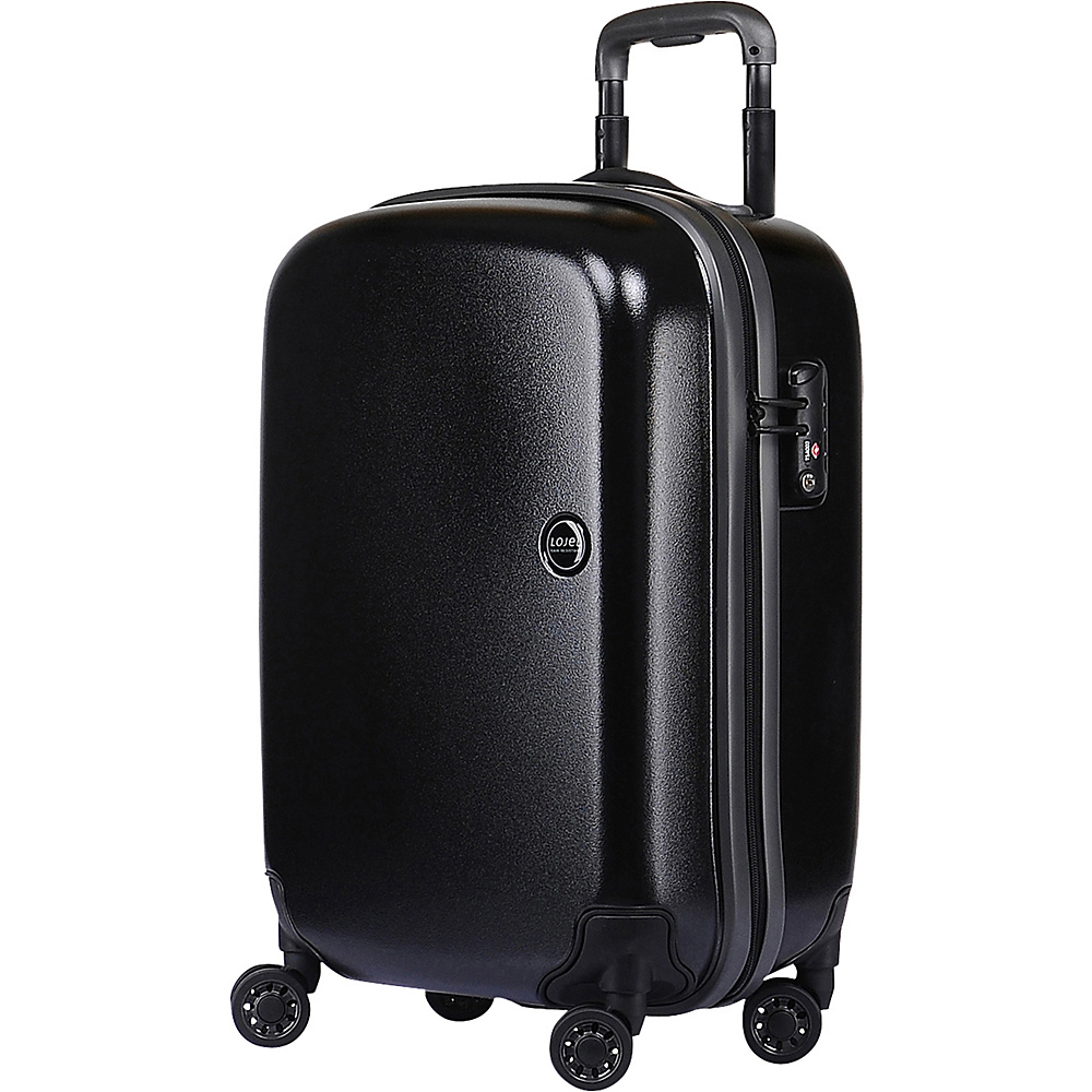 Lojel Nimbus IPX 3 Waterproof Luggage Carry On Black gray Lojel Hardside Carry On