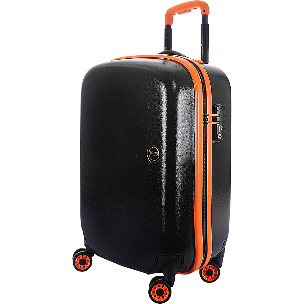 Lojel Nimbus IPX 3 Waterproof Luggage Carry On Black Orange Lojel Hardside Carry On