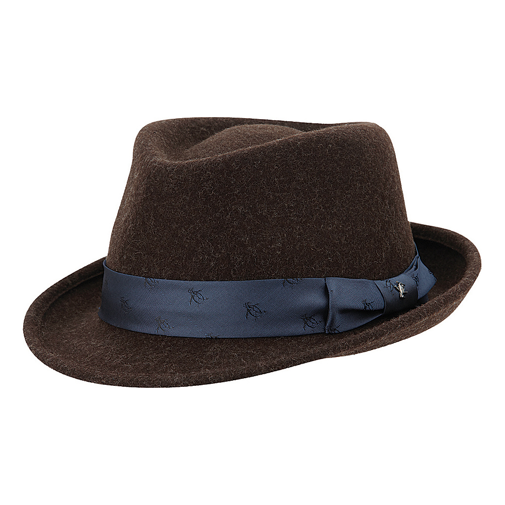 Original Penguin Paul Felt Fedora Chocolate Torte Large Extra Large Original Penguin Hats Gloves Scarves