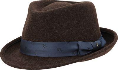 Original Penguin Paul Felt Fedora Chocolate Torte - Small/Medium - Original Penguin Hats