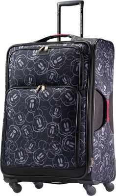 American Tourister Disney Mickey Mouse Softside Spinner 28 inch Mickey Mouse Multi-Face - American Tourister Softside Checked