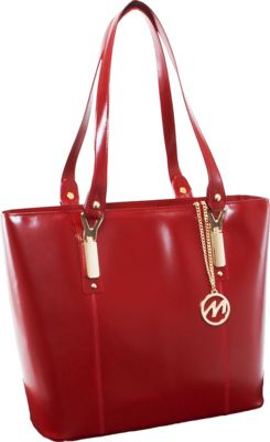 McKlein USA Savarna Tote Red - McKlein USA Women's Business Bags