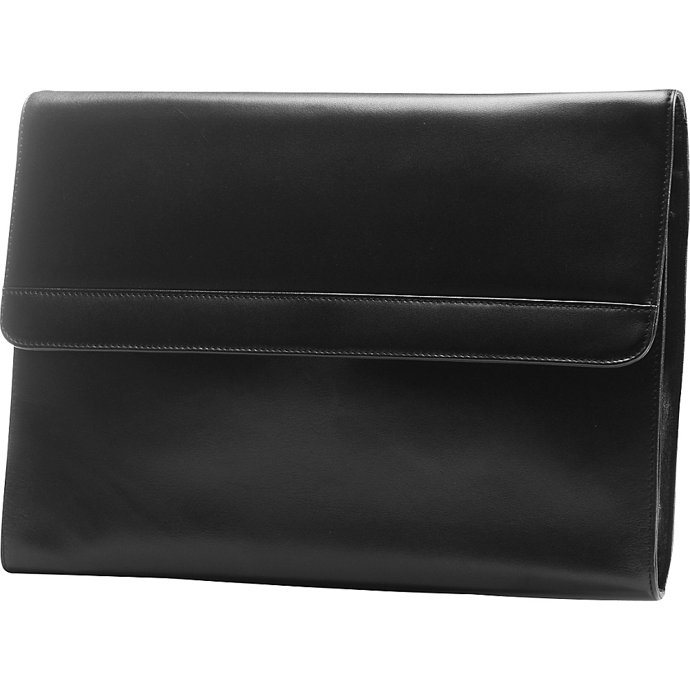 Tanners Avenue Premium Leather Portfolio Brief Black Tanners Avenue Non Wheeled Business Cases