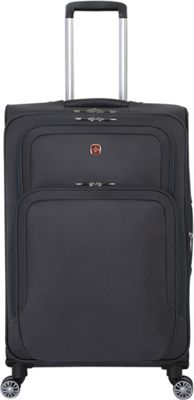 SwissGear Travel Gear 24.5 inch Deluxe Spinner Grey - SwissGear Travel Gear Softside Checked