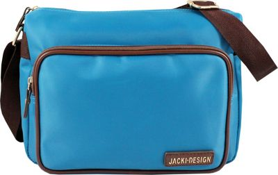 Jacki Design Essential Messenger Bag Blue - Jacki Design Fabric Handbags