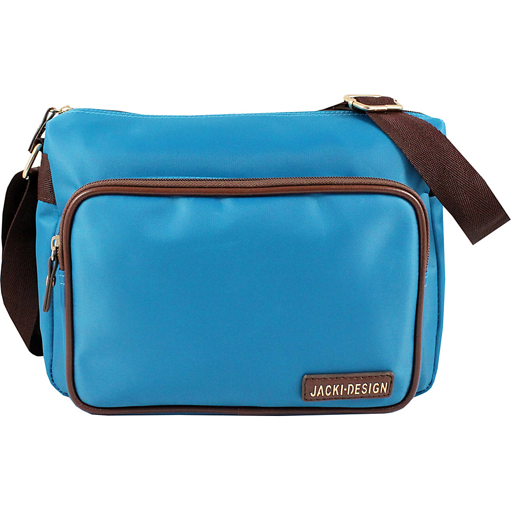 Jacki Design Essential Messenger Bag Blue Jacki Design Fabric Handbags