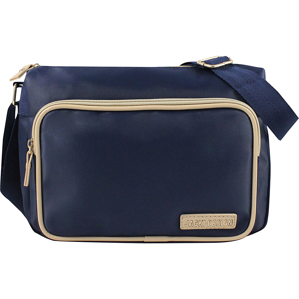 Jacki Design Essential Messenger Bag Dark Blue Jacki Design Fabric Handbags