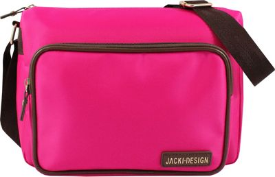Jacki Design Essential Messenger Bag Hot Pink - Jacki Design Fabric Handbags