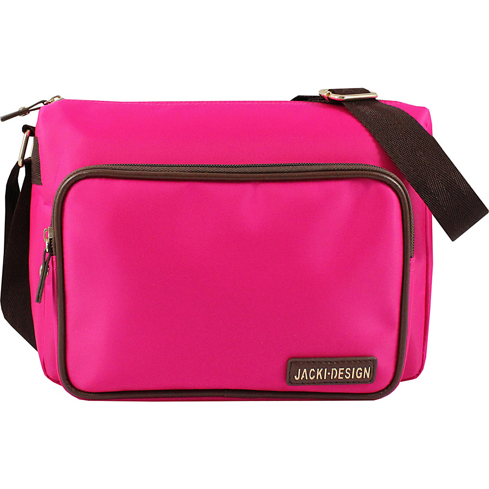 Jacki Design Essential Messenger Bag Hot Pink Jacki Design Fabric Handbags