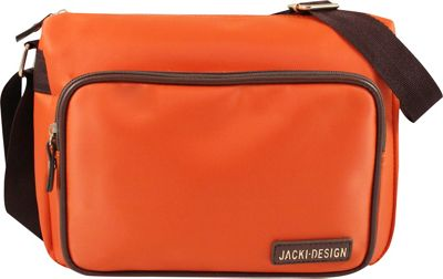 Jacki Design Essential Messenger Bag Orange - Jacki Design Fabric Handbags