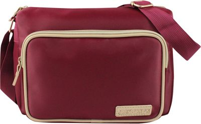 Jacki Design Essential Messenger Bag Red - Jacki Design Fabric Handbags