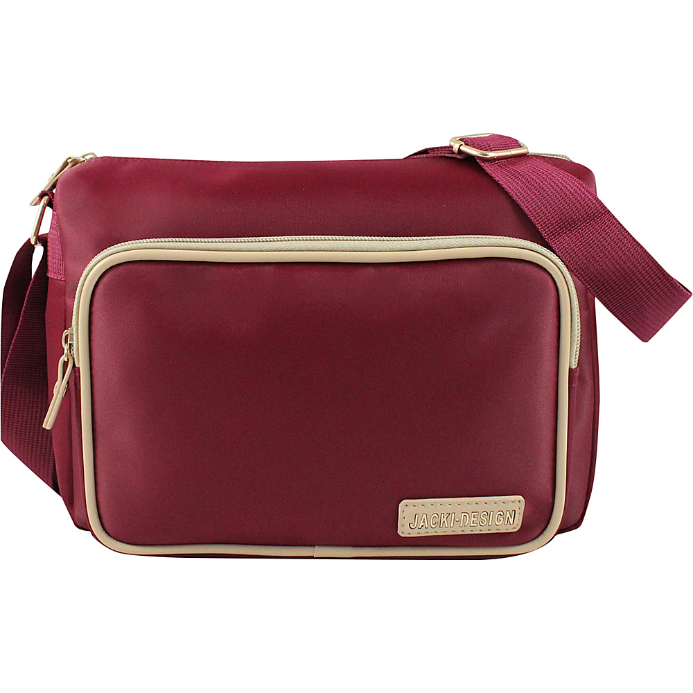 Jacki Design Essential Messenger Bag Red Jacki Design Fabric Handbags