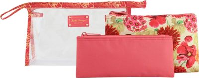Jacki Design Miss Cherie 3 Piece Cosmetic Bag Set Coral - Jacki Design Women's SLG Other