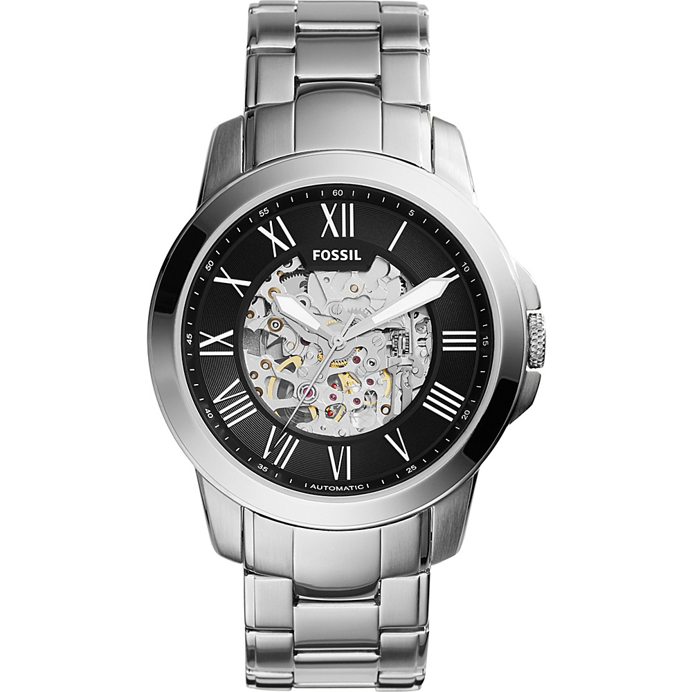 Fossil Townsman Automatic Stainless Steel Watch Silver - Fossil Watches - Fashion Accessories, Watches