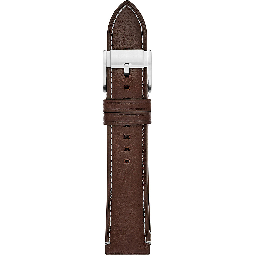 Fossil Leather 22mm Watch Strap Dark Brown - Fossil Watches - Fashion Accessories, Watches