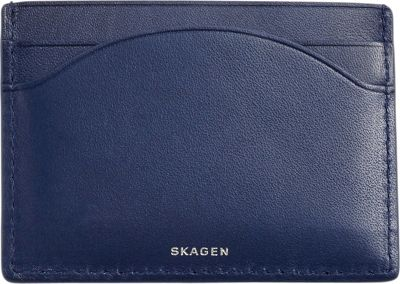 Skagen Triel Card Case Dark Blue - Skagen Ladies Small Wallets