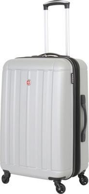 SwissGear Travel Gear 6297 23.5 inch Expandable Hardside Spinner Luggage Silver - SwissGear Travel Gear Hardside Checked