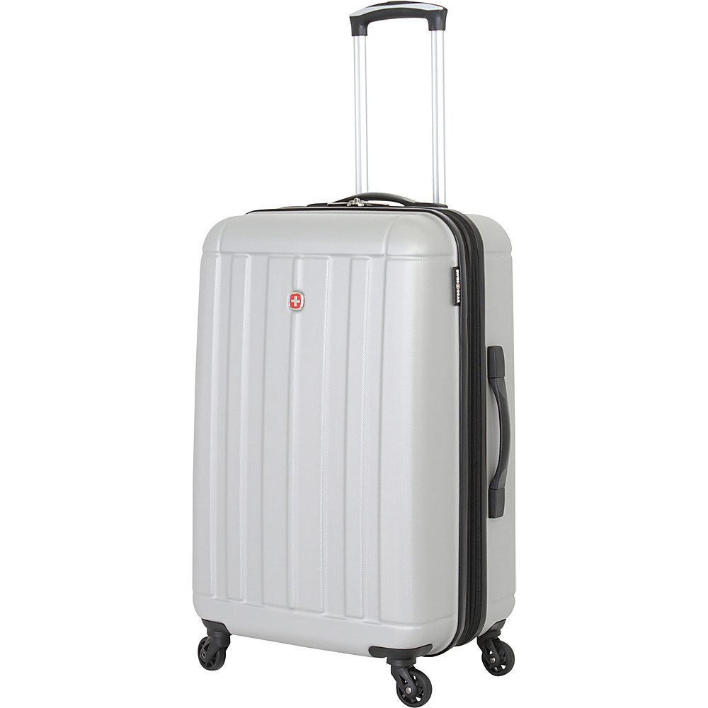 swissgear travel gear 24 hardside spinner silver hardside luggage new 721427010044 ebay