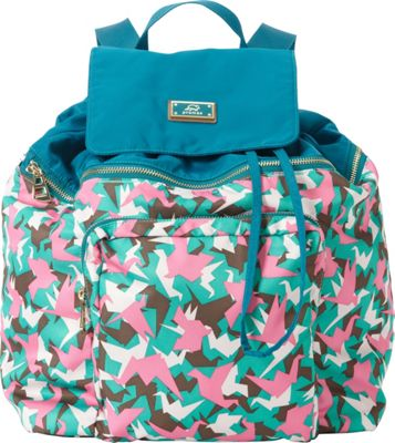 Promax Chi Chi 2-in-1 Backpack Green Bird - Promax Fabric Handbags