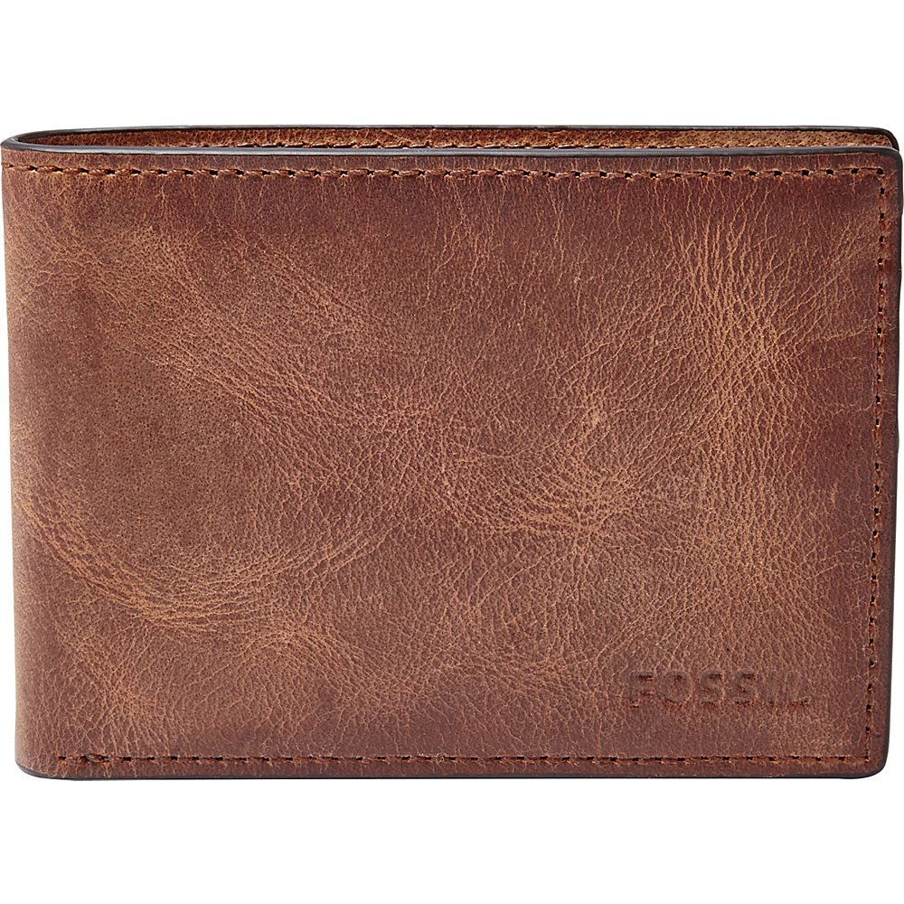 Fossil Derrick Front Pocket Bifold Brown - Fossil Mens Wallets - Work Bags & Briefcases, Men's Wallets