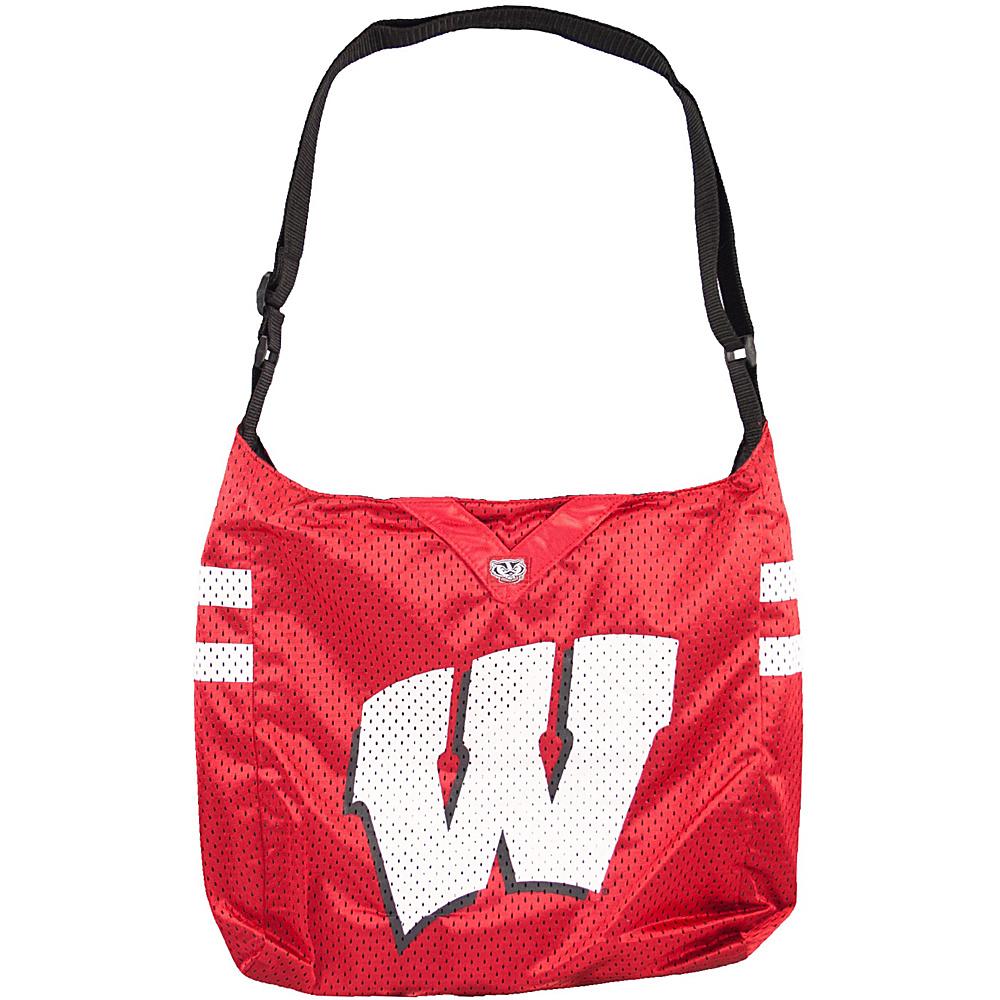 Littlearth Team Jersey Shoulder Bag - Big 10 Teams Wisconsin, U of - Littlearth Fabric Handbags - Handbags, Fabric Handbags