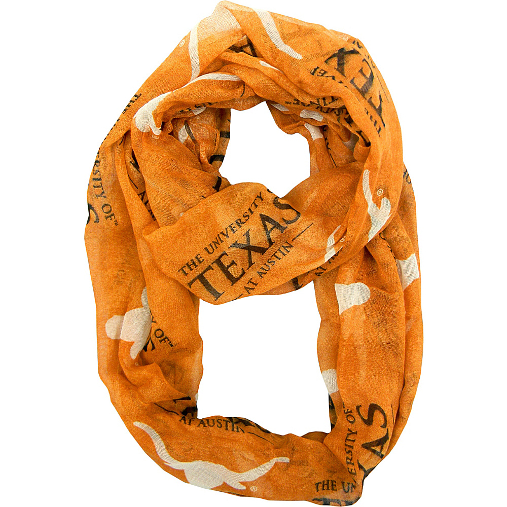 Littlearth Sheer Infinity Scarf Alternate - Big 12 Teams Texas, U of - Littlearth Hats/Gloves/Scarves - Fashion Accessories, Hats/Gloves/Scarves